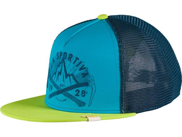 La Sportiva Hipster Trucker Hat Herren apple green/tropic blue